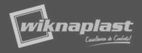 logótipo Wiknaplast cinzento